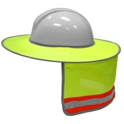 ML Kishigo 2873-6 Full Brim Sun Shield Color Lime (10 Pack) Include Free Sticker (American Flag)