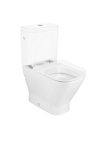 Inodoro porcelana adosado a pared salida dual cisterna y tapa no incluidos colecci/ón The Gap Compact color blanco Roca A342472000