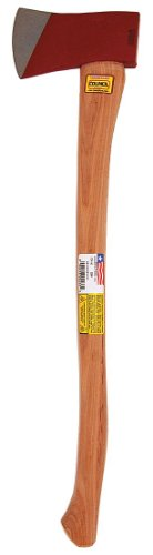 Council Tool 3.5 lb Dayton Pattern Single Bit Axe with 36 Inch Curved Wooden Handle
