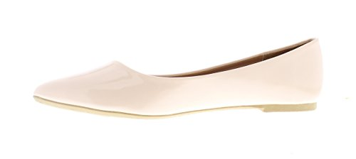 Faux Gold Slip Shoes Ballet Patent Casima Dress Foam Nude Memory Toe Pump On Flat Women's Pointed Leather rAxYqtZAw