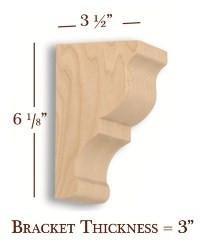 Bar Bracket - 3-1/2