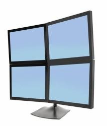 - Ds100 Quad-Monitor Desk Stand 4-Monitors Square 2up/2down 1-Base