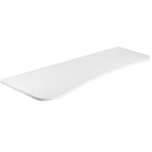 VIVO White 63 x 32 inch Universal Table Top for Standard and Sit to Stand Height Adjustable Home and Office Desk Frames | 3 Section Desktop (DESK-TOP1W)