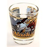 Alaska State Wraparound Shot Glass - Alaska Glass