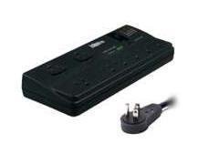SURGE SUPPRESSOR - EXTERNAL - INDIVIDUAL PC - AC 120 V - 8 X POWER 3-POLE - BLAC Electronics Computer Networking by Salesmas