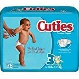 Cuties - CR3001 - Prevail Cuties Baby Diapers Size 3, 16 - 28 lbs.