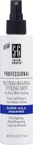 Salon Grafix Professional Protein Shaping Styling Mist, Super Hold, Unscented, 6 Fl Oz