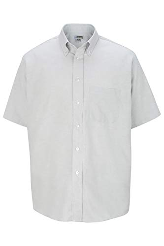 Edwards Men's Short Sleeve Oxford Shirt Small Light Grey ()