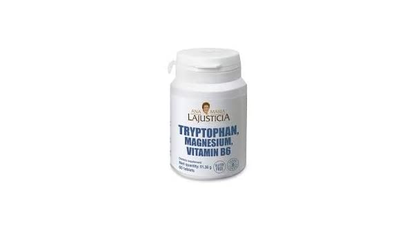 Amazon.com: Ana Maria LaJusticia Tryptophan with Magnesium and Vitamin B6 60 Tabs - 1.7 gr - Reduce Fatigue and Tiredness Feeling - Better Nervous System ...
