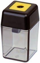 M+R 709150000 Spitzer Kunststoff einfach Dosenspitzer, schwarz/rauch