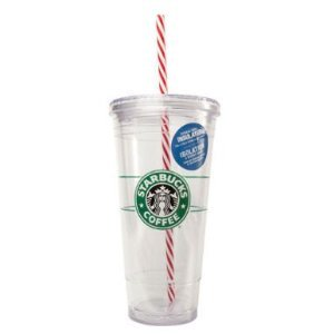Starbucks Holiday 20 Ounce Clear Insulated To Go Cup Tumbler