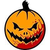 Scary Evil Bloody Halloween Pumpkin Cartoon Truck Car Bumper Sticker Vinyl Decal 5