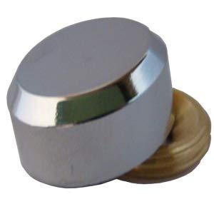 Diam/ètre:16 mm D/écor:Chrom/é ITAR Cache vis plat