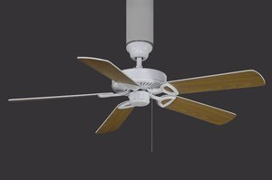 America - USA Assembled - White - With Light Kit 2x13 W GU24 CFL Ceiling Fan