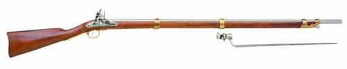 Denix 18th Century Flintlock Musket American Revolution Era Rifle - Non-Firing Replica