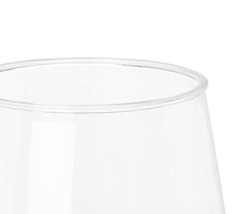 32 count 12 oz Unbreakable Stemless Plastic Wine Champagne Glasses Elegant Durable Reusable Shatterproof Indoor Outdoor Ideal for Home, Office, Bars, Wedding, Bridal Baby Shower by Oojami (Image #2)