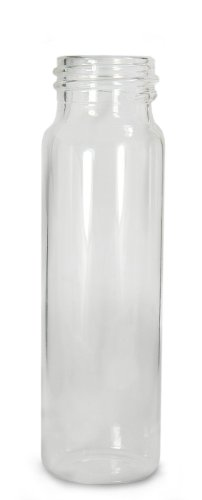 Qorpak GLA-00794 Borosilicate Glass 8 Drams Screw Thread Sample Vial, with 22-400 Neck Finish, Clear (Case of 144)