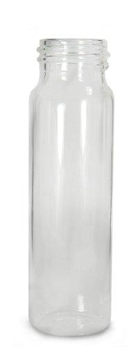- Qorpak GLA-00794 Borosilicate Glass 8 Drams Screw Thread Sample Vial, with 22-400 Neck Finish, Clear (Case of 144)