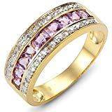 (HQ Jewelry Chic Beautiful Size 6,7,8,9,10 Band Amethyst 18K Gold Filled Women Fashion Rings (8))