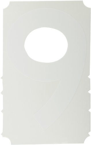 """UPC 754473517090, Brady 5170-9,  Quik-Align Diecut Labels, 4"""" Height, White, Gothic, Legend """"9""""  (10 per Package)"""
