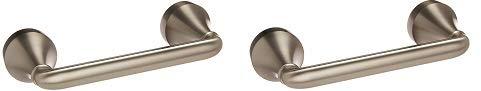 Moen MY6208BN Hamden Pivoting Toilet Paper Holder Spot Resist Brushed Nickel (2-(Pack))