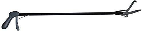 TAMSCO 48-Inch Black Shaft Catcher Style Stainless Steel Spring Loaded Easy Trigger Various Sizes Black Shaft by Tamsco
