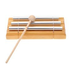Meditation Energy Chime Three Tone Educational Musical Toy Percussion Instrument with Mallet