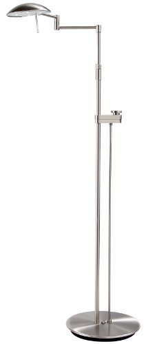 Holtkotter Satin Nickel Floor Lamp - Holtkoetter 6317LEDSLD SN LED Floor Lamp with Side Line Dimmer, 10.75