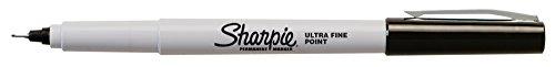 Marcadores Permanentes Sharpie, Punto Ultra Fino, Negro, 12 Cantidad