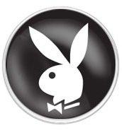 Playboy Bunny Tongue Ring Barbell Bar Piercing 14g (Black) ()