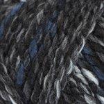 Cozy Muffler Crochet Kit in Encore Mega yarn - CHARCOAL