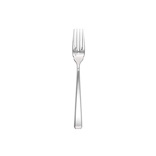 Fortessa Scalini 18/10 Stainless Steel Flatware Solid Handle Fish Fork, Set of 12