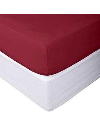 Magenta Staple Combed Pure Natural Cotton Sheet 400 Thread Count 100/% Cotton 1 Fitted Sheet Only Queen Fitted Sheet Soft /& Silky Sateen Weave Long