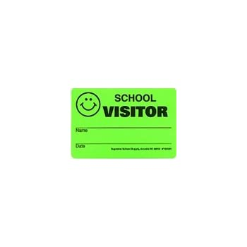 School Visitor Badge Security Stickers (1000/ROLL)