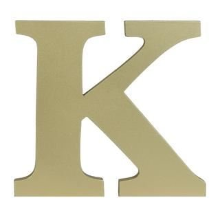 Contemporary Large 6inch Wooden Letters Free-standing A to Z, & Alphabet Letters / Name / Door / Words / Wall / Craft / Sign (Gold Letter (Gold Large Wood)