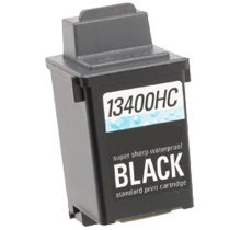 Refurbished LEXMARK 13400HC INK / INKJET Cartridge Black Waterproof