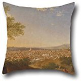 Oil Painting Thomas Patch - A Panoramic View Of Florence From Bellosguardo Throw Pillow Covers 20 X 20 Inches / 50 By 50 Cm Gift Or Decor For Bedding,festival,lover,couch,office,kids Boys - Each Side