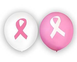Breast Cancer Awareness Pink Ribbon Balloons in Pink and White (50 count) by Autism Awareness Shop