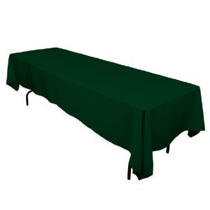 LinenTablecloth 60 x 126-Inch Rectangular Polyester Tablecloth Hunter Green
