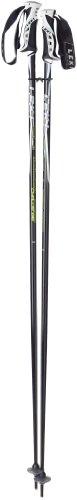 LEKI Erwachsene Skistock Challenge, Base Color: Black/ Design: Anthr-White-Silver-Green, 110 cm, 634-4655