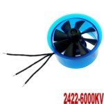 (Mystery HL4508 2422-6000KV Motor with 45mm Ducted Fan for RC Helicopter(Blue))