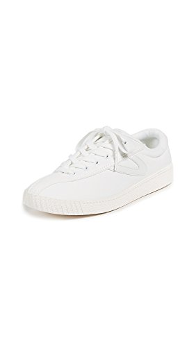 Tretorn Women's Nylite Plus Sneakers, White/White/White, 8 B(M) US