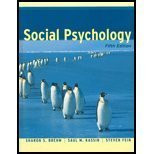 Social Psychology, Sharon S. Brehm and Saul M. Kassin, 0618129642