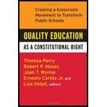 Quality Education as Constitutional (10) by Perry, Theresa - Moses, Robert P - Jr, Ernesto Cortes - Delpi [Paperback (2008)]