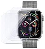 Insten 3 pcs Tempered Glass Screen Protector Compatible with Apple Watch Series 5/4 40mm [No Edge Coverage, Only Cover Flat Area] 9H Hardness, Crystal Clear HD, Anti-Fingerprint,Highly Responsive