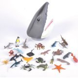 Rhode Island Novelty Shark Head Aquatic Creatures Case, 24-Piece - Small Fish Head