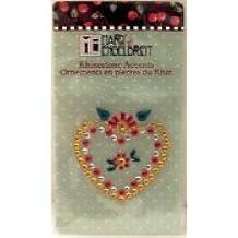 Mary Engelbreit Heart Rhinestone Accent Sticker