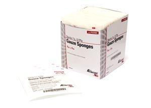 Pro Advantage P157025 Gauze Sponge, 2S, 4'' x 4'', 12-Ply, Sterile (Pack of 600)