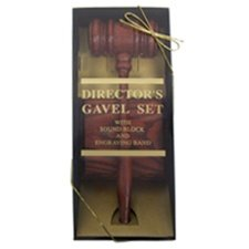American Rosewood Style Director's Gavel Boxed Set