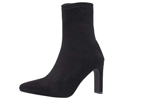 Sofree Women's Mid Calf Stretch Heel Boots (7, Black)